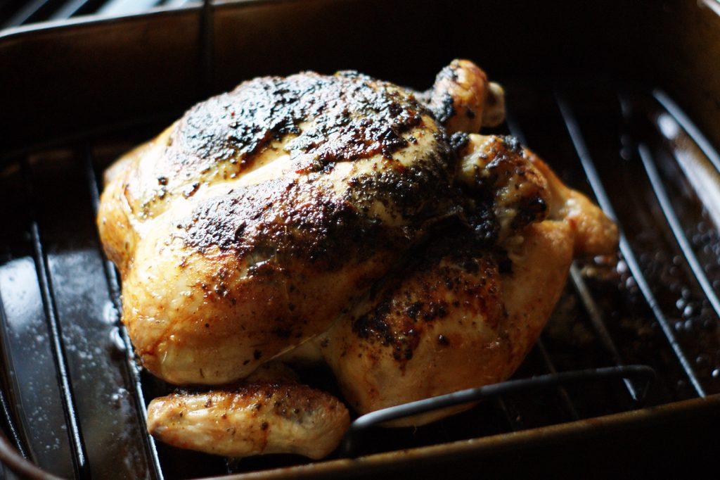 Roast chicken with zhoug